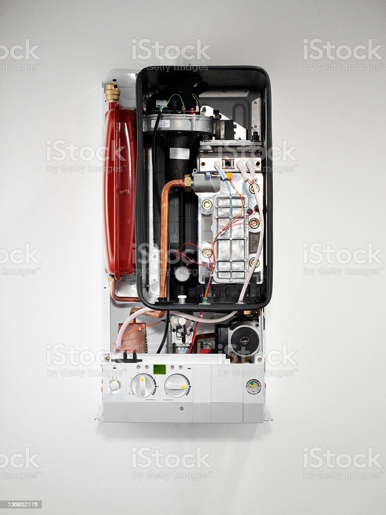 Boiler internal hardware royalty-free stock photo