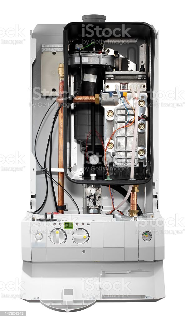 Boiler internal hardware (isolated with clipping path over white background) royalty-free stock photo