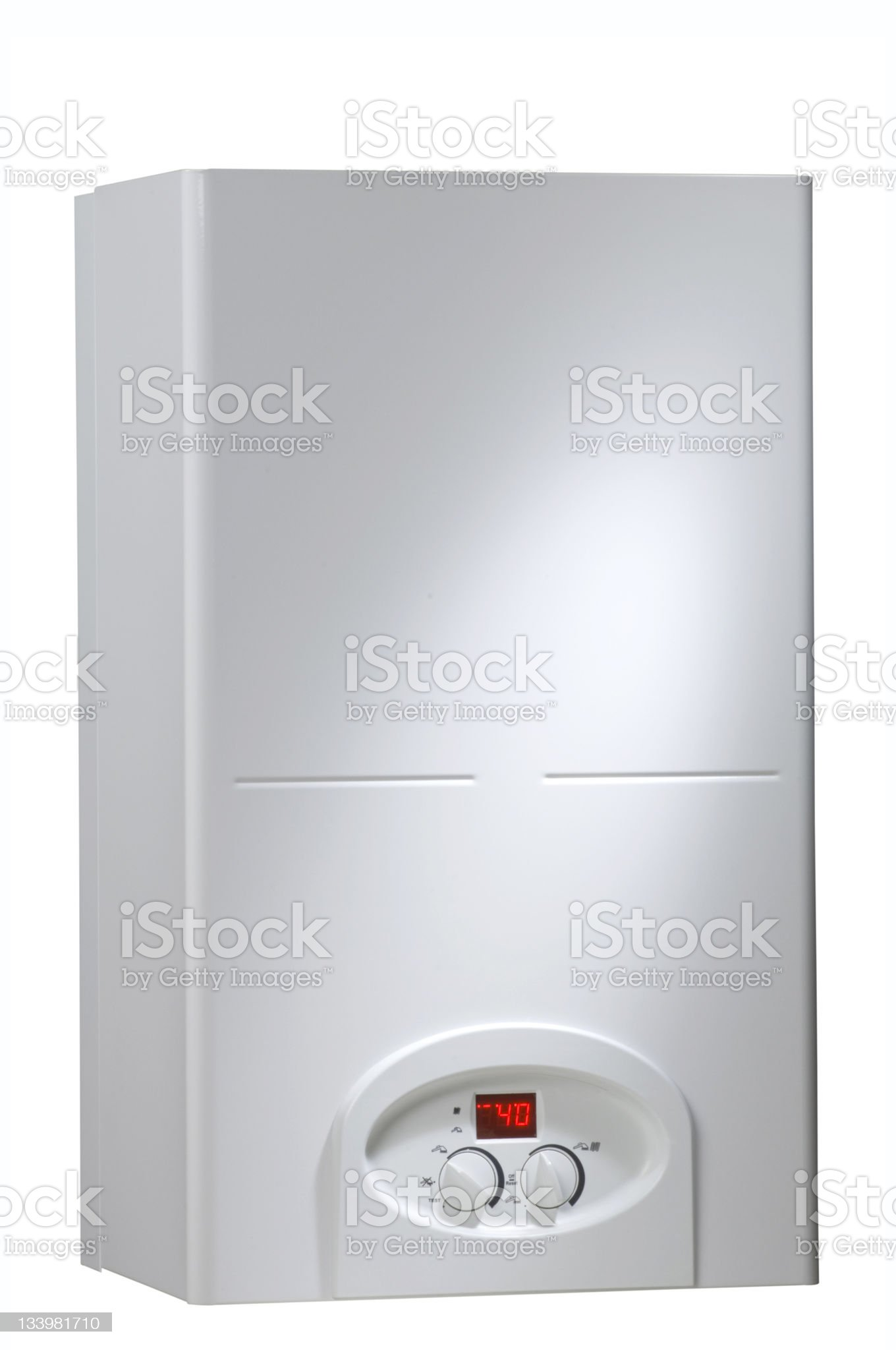 boiler on white background royalty-free stock photo