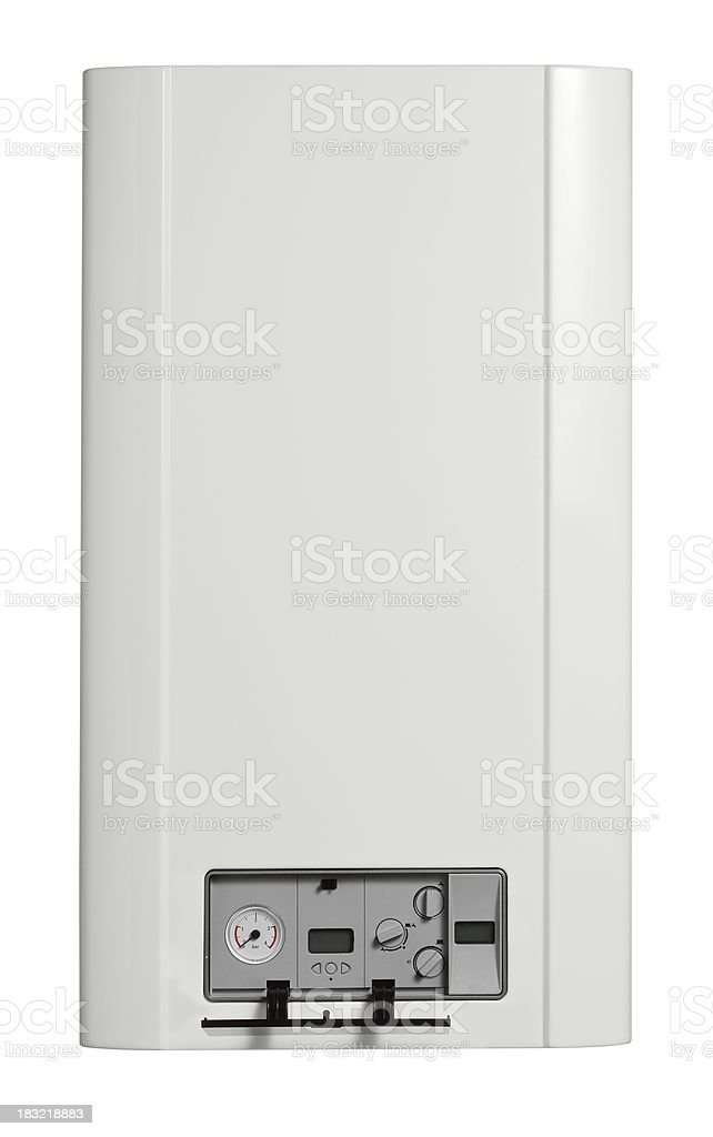 Boiler (isolated with clipping path over white background) royalty-free stock photo