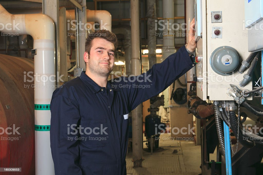 Boiler Room - Control Data royalty-free stock photo