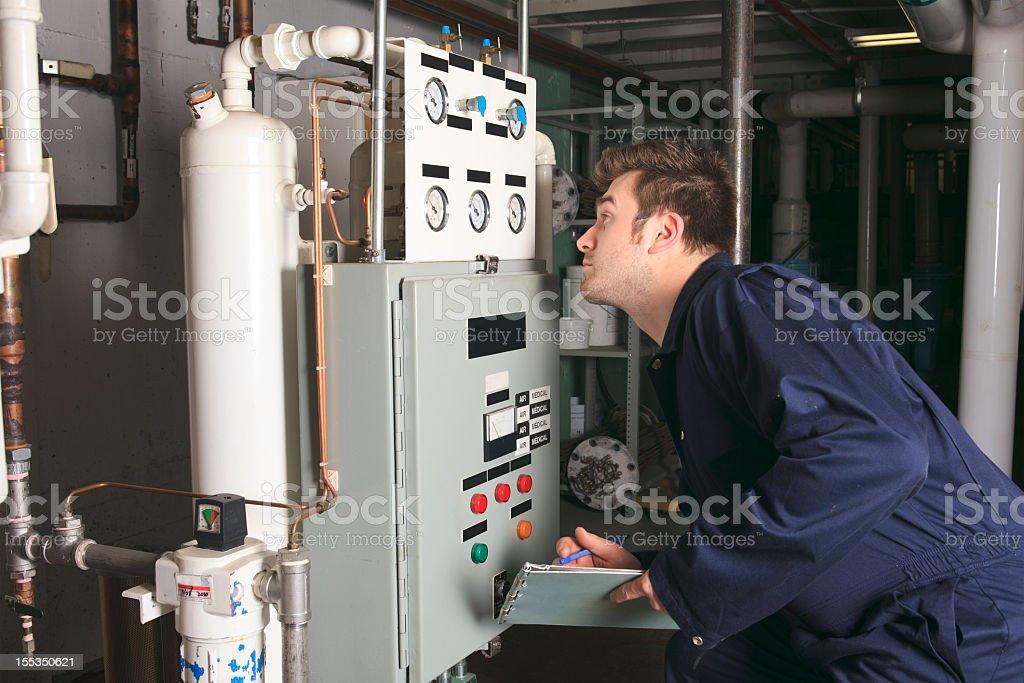 Boiler Room - Data View stock photo