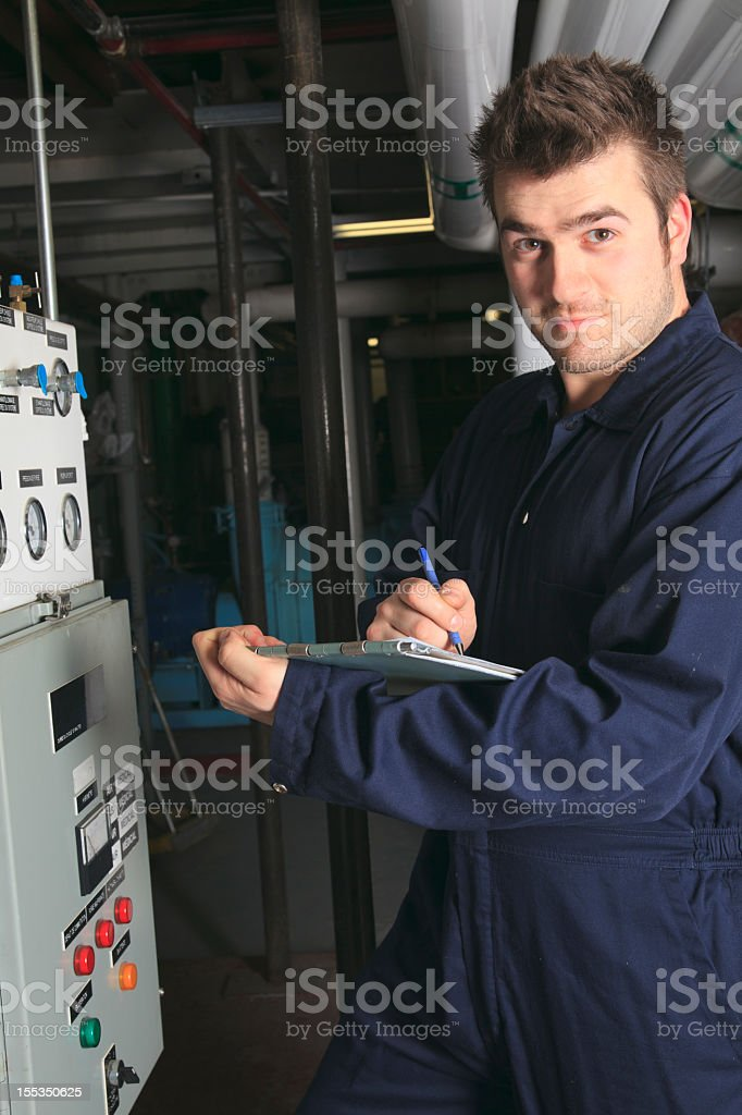 Boiler Room - Data View Smile Vertical royalty-free stock photo