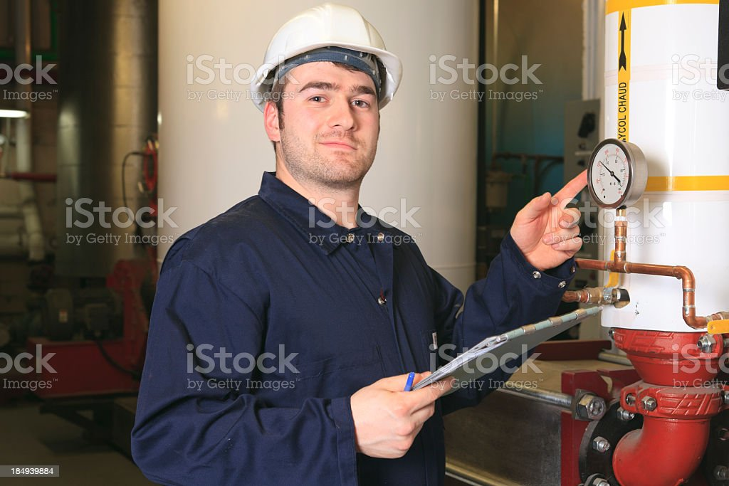 Boiler Room - Indicator royalty-free stock photo