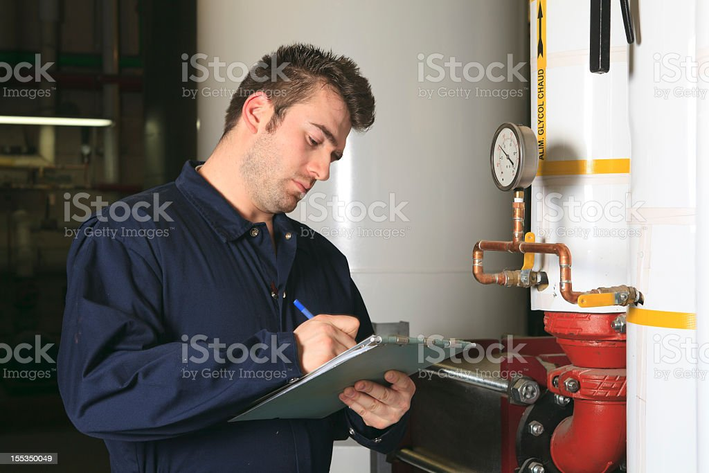 Boiler Room - Note royalty-free stock photo