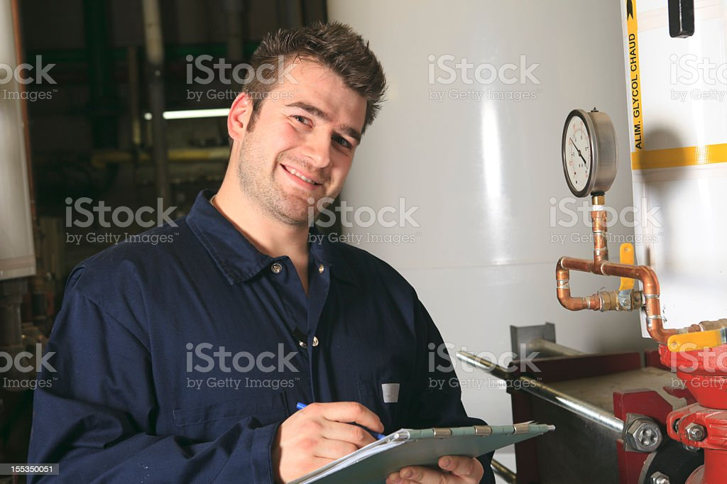 Boiler Room - Note Smiling royalty-free stock photo