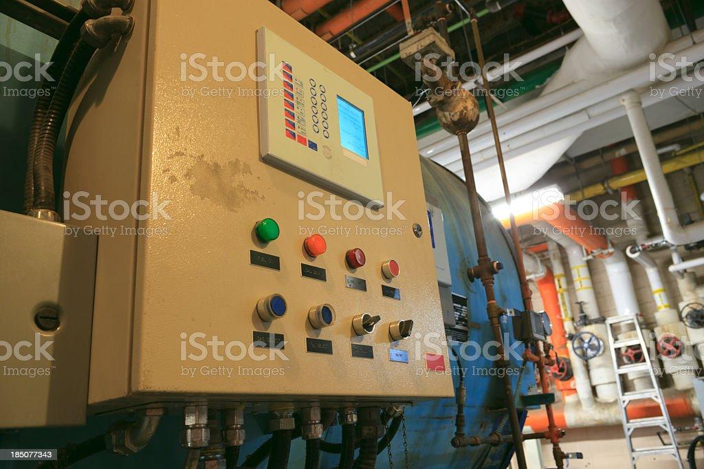 Boiler Room - Panel stock photo