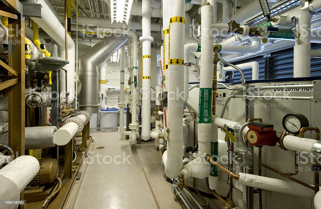 Boiler Room stock photo