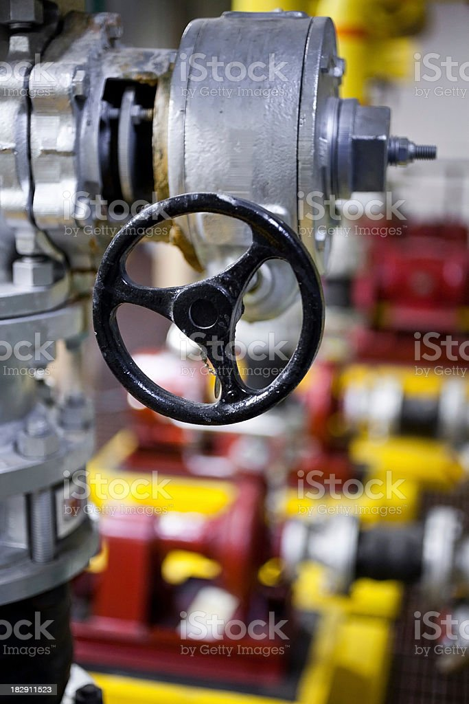 boiler room valve stock photo