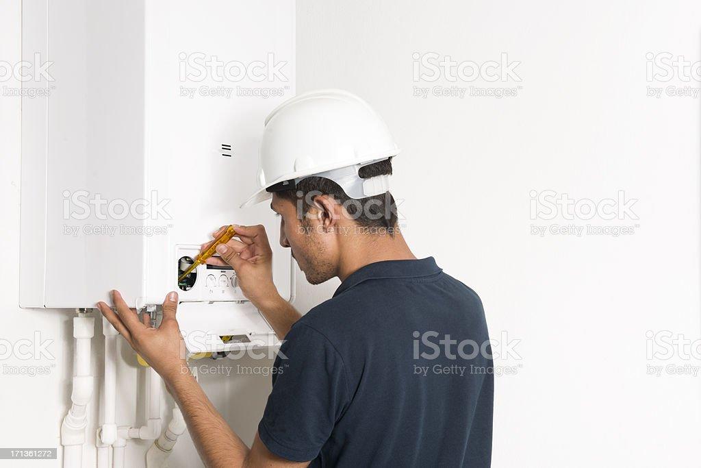 boiler technician royalty-free stock photo