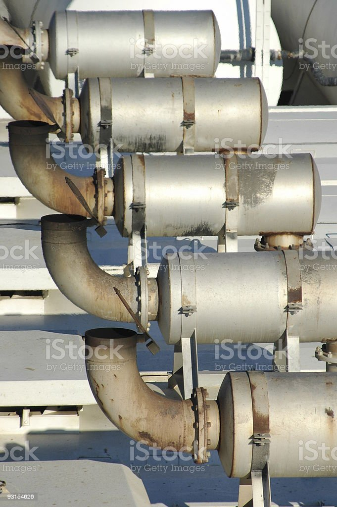 Boiler vents royalty-free stock photo
