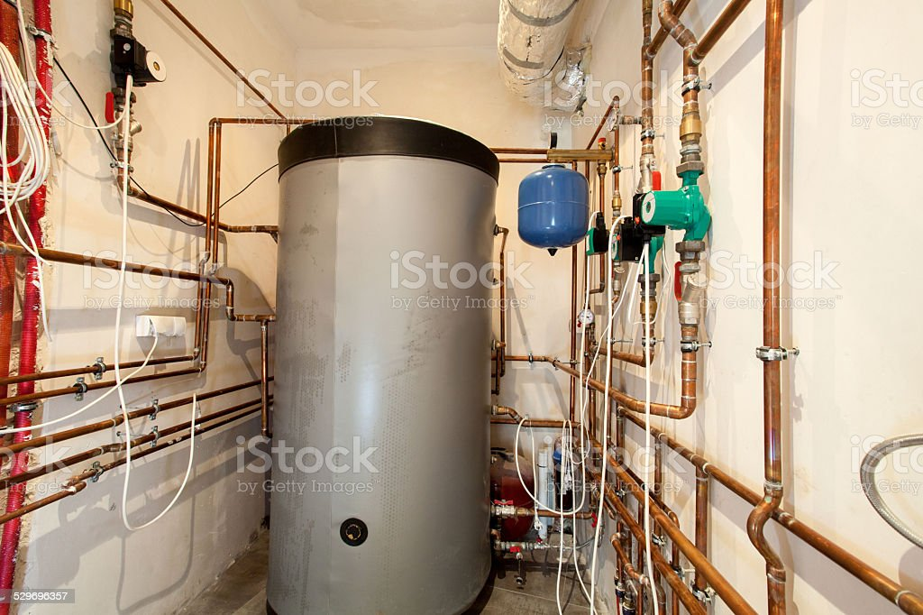 Boiler-house in the building stock photo