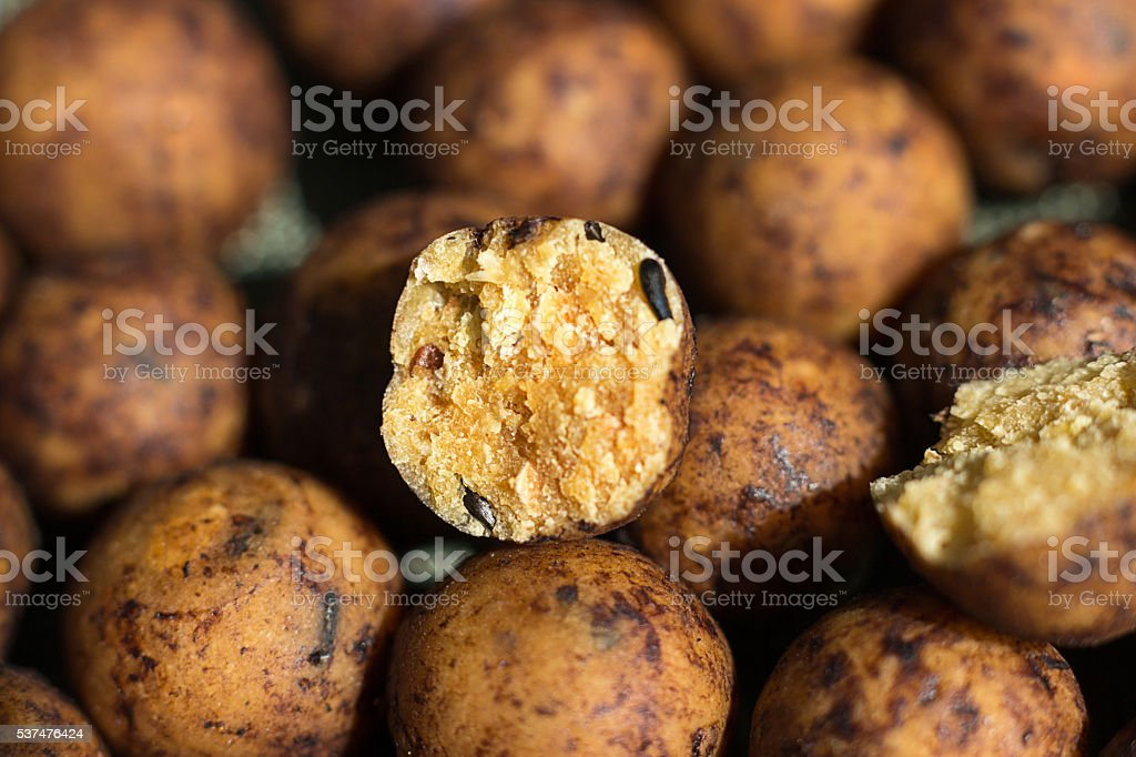 Boilies, fishing baits, stock photo