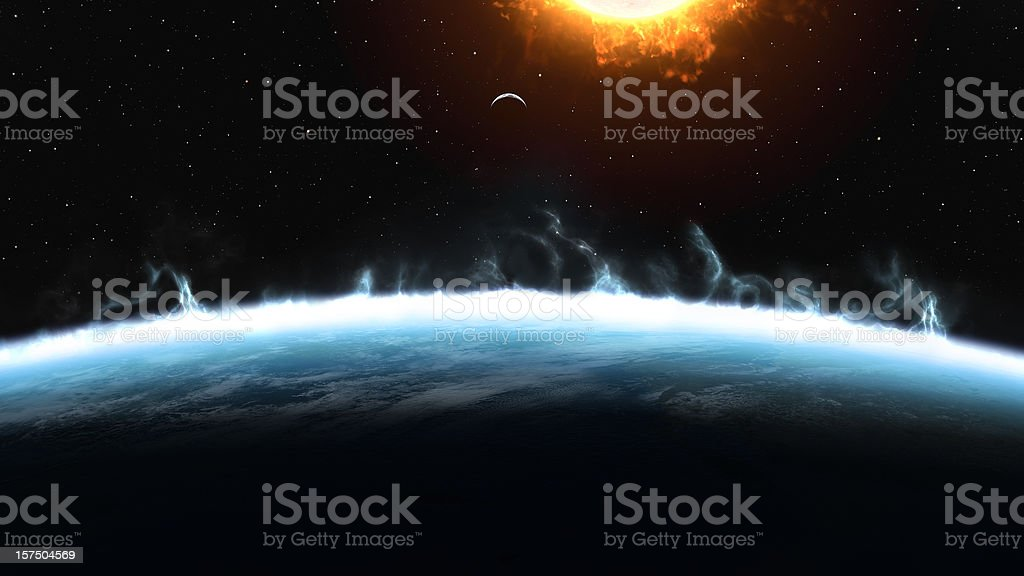 Boiling Earth - Climate Change stock photo