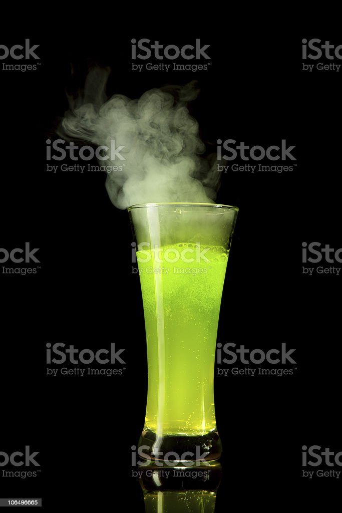 Boiling green alcohol royalty-free stock photo