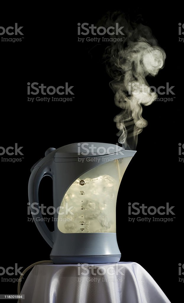 Boiling kettle royalty-free stock photo