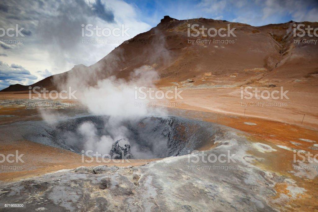 Boiling Mud in Hveravellir - Iceland stock photo
