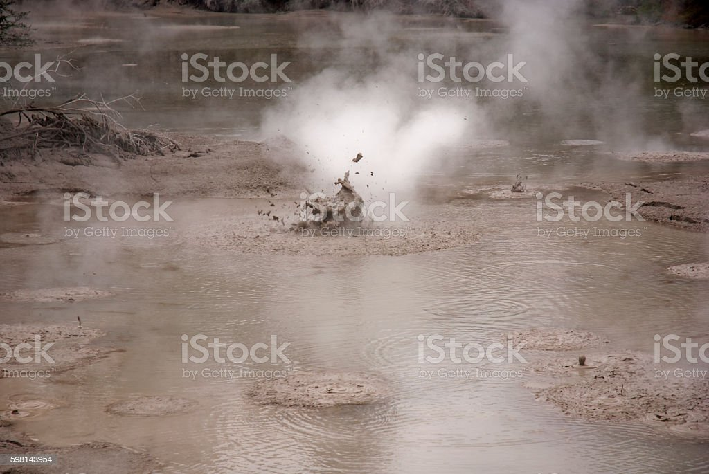 Boiling Mud stock photo