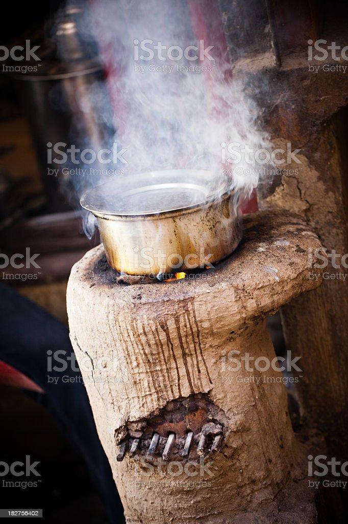 boiling pot stock photo