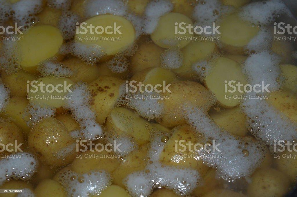 Boiling potato royalty-free stock photo