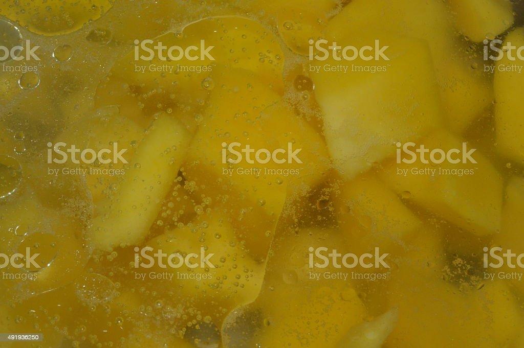 Boiling squash royalty-free stock photo