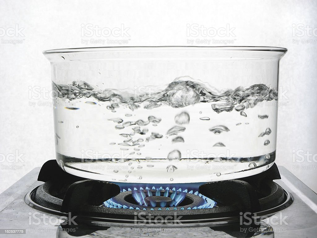 Boiling Water on Gas stock photo