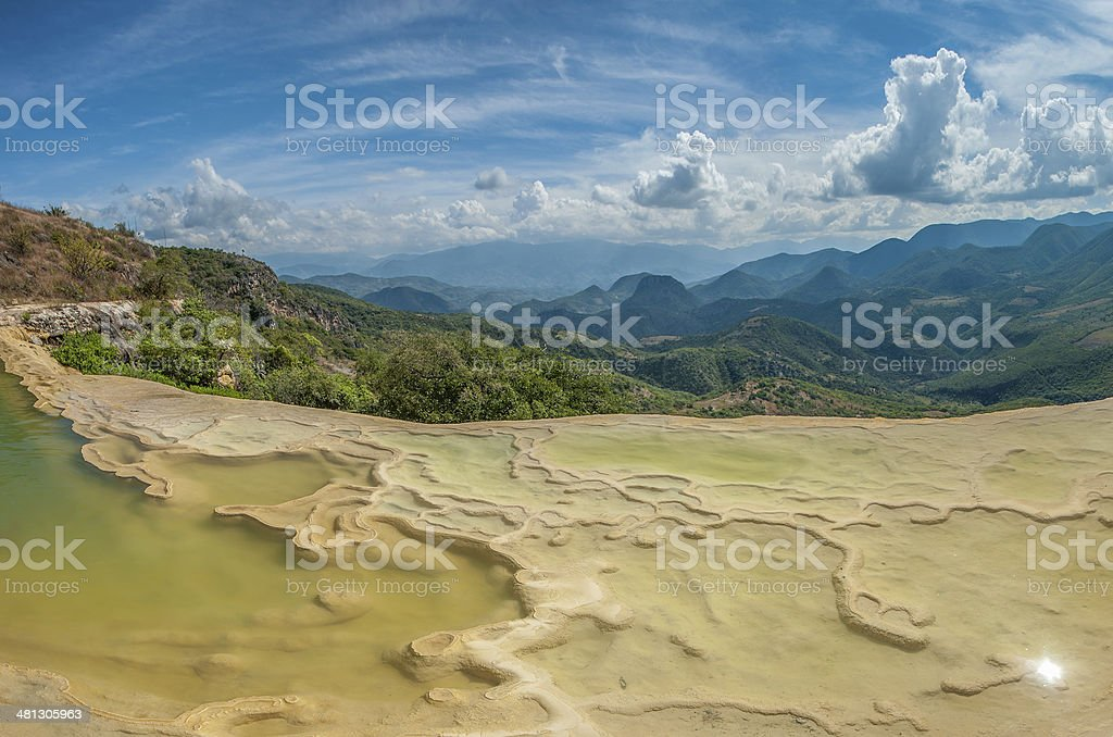 Hierve el Agua, natural rock formations in Mexico stock photo