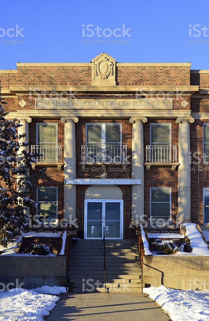 Boise City, Oklahoma, USA: old Courthouse House royalty-free stock photo