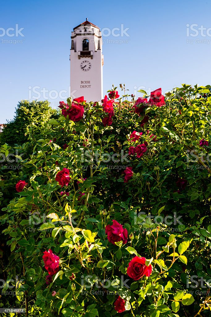 Boise Depot during spring royalty-free stock photo