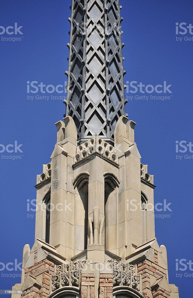 Boise, Idaho, USA: Cathedral of the Rockies metal spire stock photo