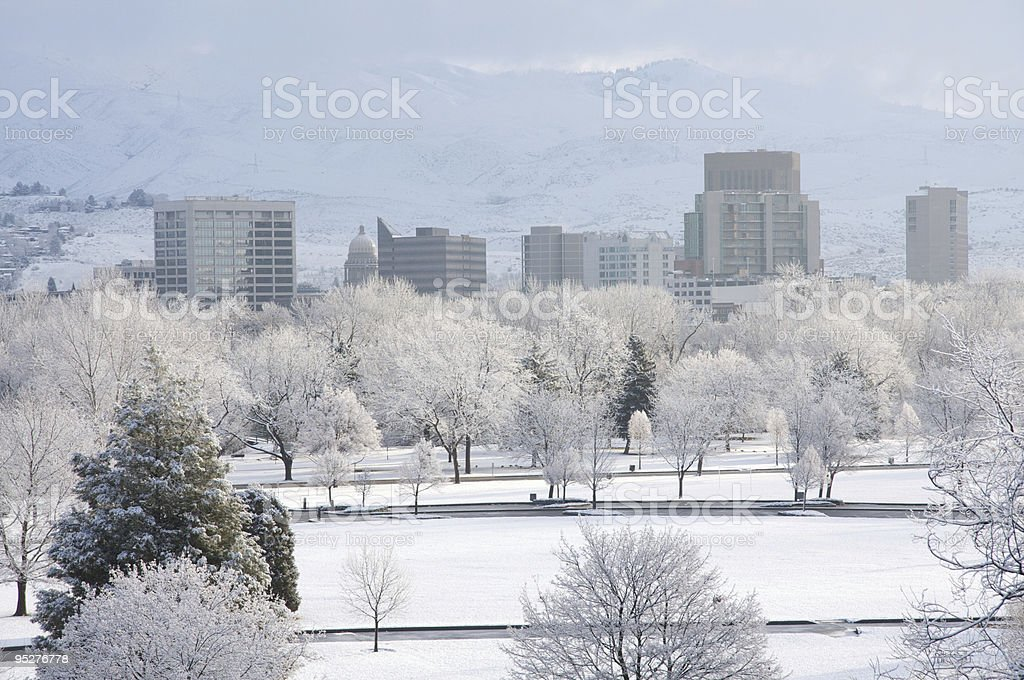 Boise in the winter royalty-free stock photo