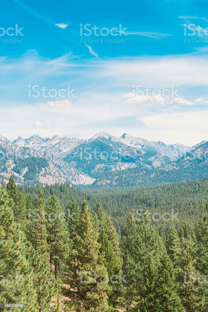 Boise National Park Forest Sawtooth Mountains Idaho Western USA Landscape stock photo