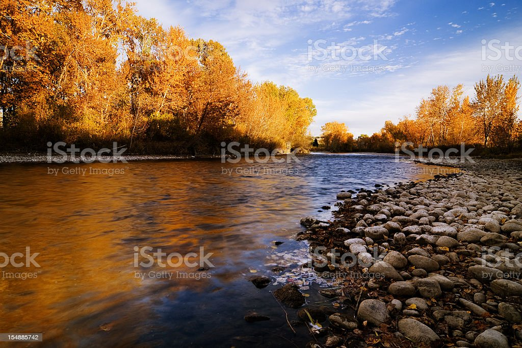 Boise River Autumn stock photo