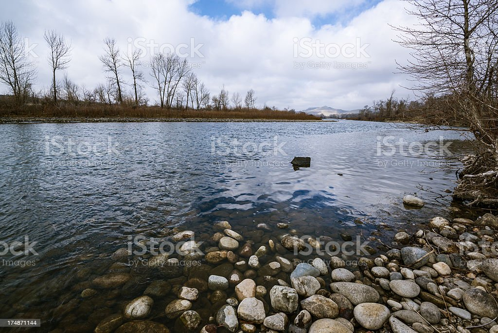 Boise river royalty-free stock photo