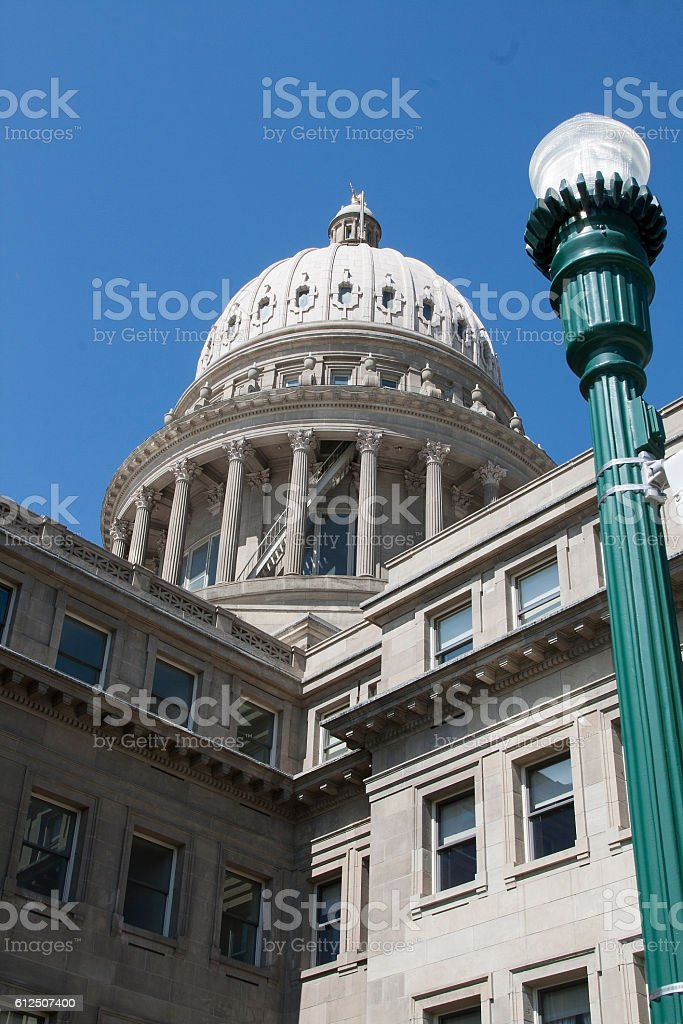 Boise State Capitol stock photo