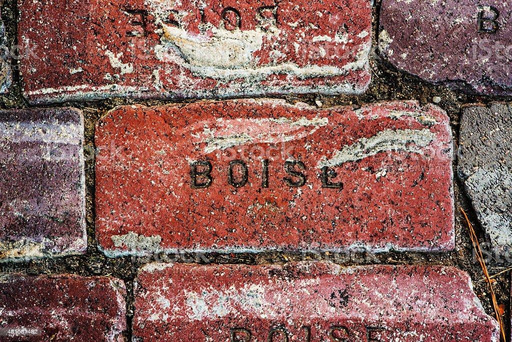 Boise written on brick stock photo