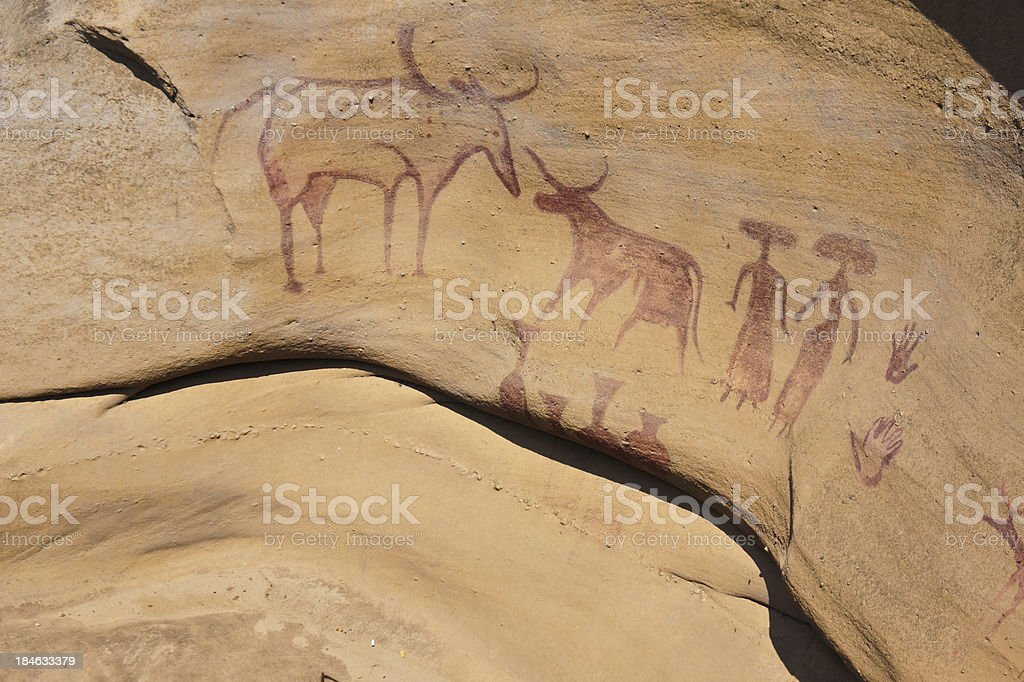 3000 Bok Cave Paintings stock photo