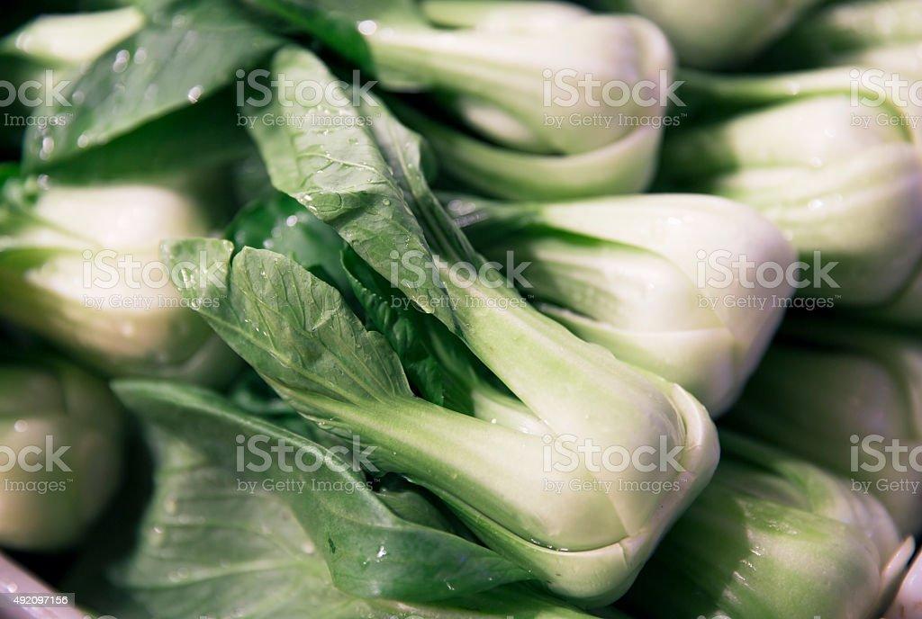 Bok Choy at the Market stock photo