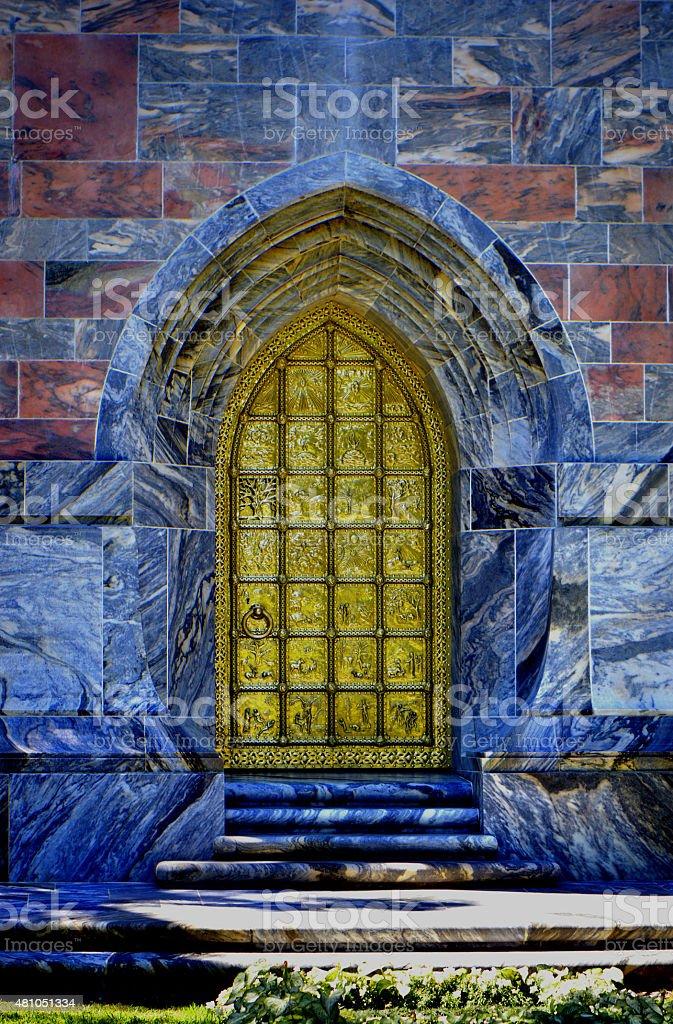 Bok singing tower golden door stock photo