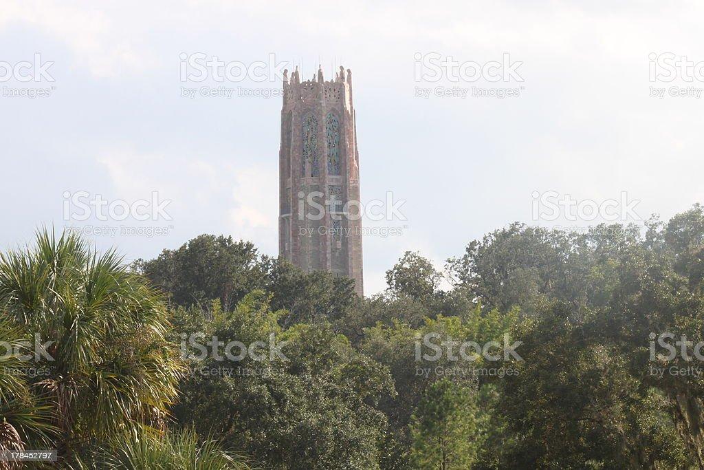 Bok Tower through the Trees stock photo