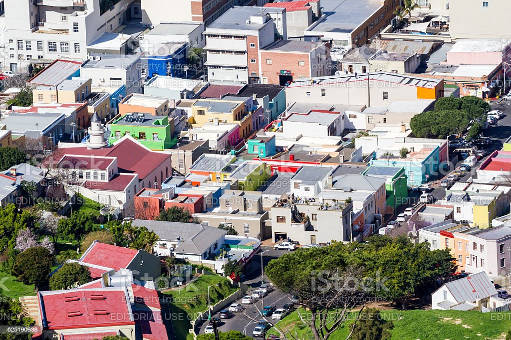 Bo-Kaap (Malay Quarter) Aerial stock photo