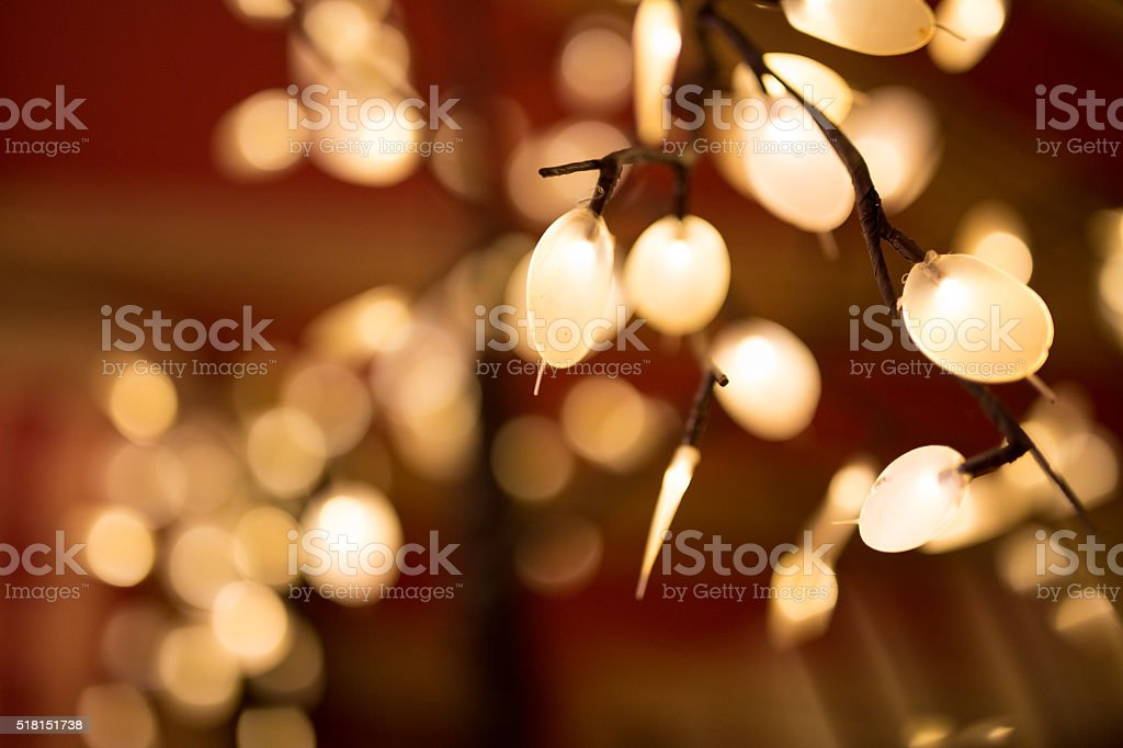 Bokeh and light stock photo