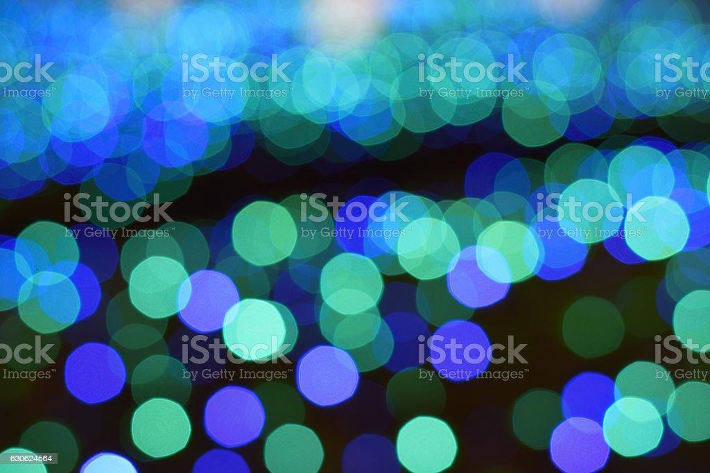 Bokeh background blue LED lights stock photo