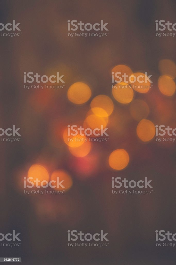 Bokeh background in autumn colors for fall holidays stock photo