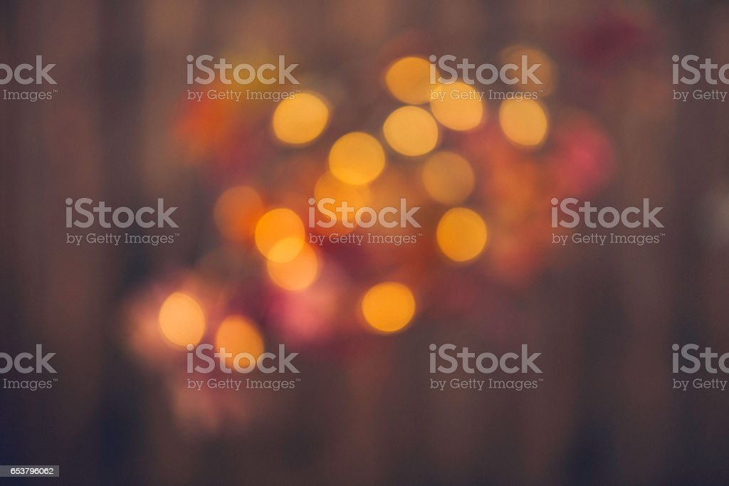 Bokeh background in muted autumnal tones stock photo