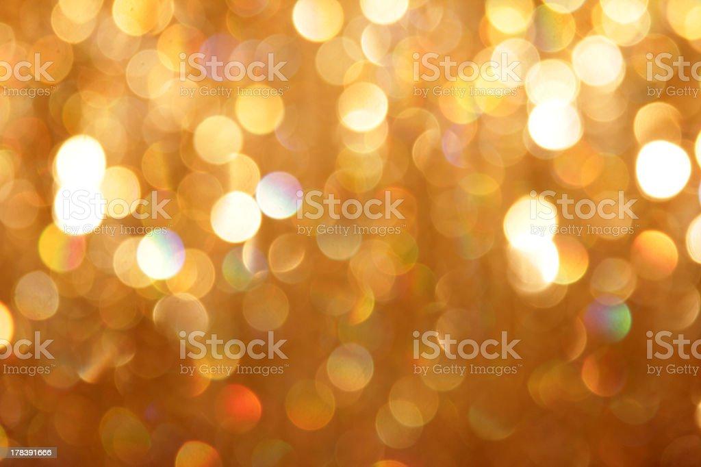 Bokeh background of gold glitter royalty-free stock photo