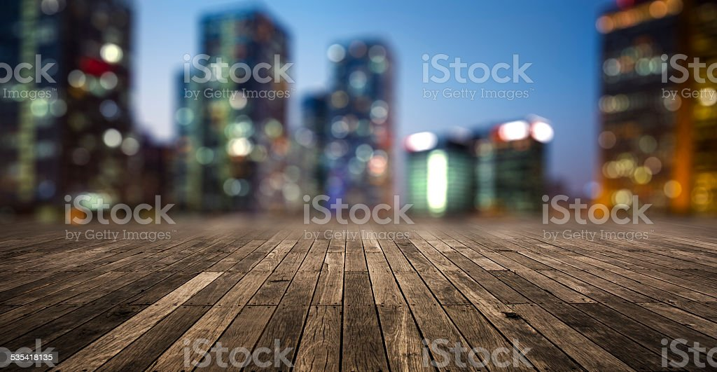 bokeh background  of Hong Kong Cityscape stock photo