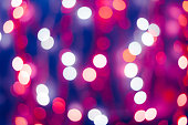Bokeh background, out of focus lights