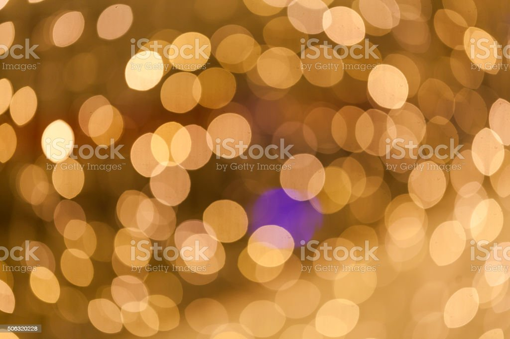 Bokeh Background with Yellow Light stock photo