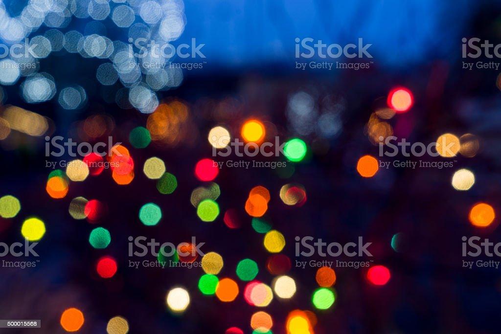 Bokeh Balls of Light stock photo